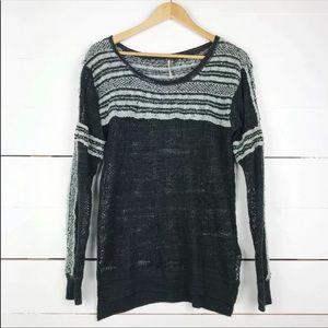 Free people boho striped knit sweater